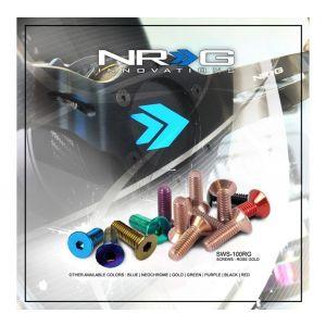NRG Innovations Steering Wheel Bolts Flat Schwarz-77944