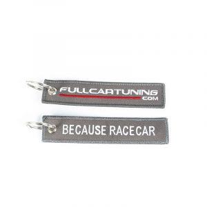 Fullcartuning Schlüsselanhänger Because Racecar Grau-56207