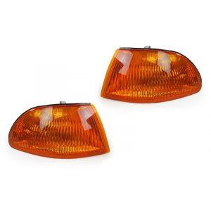Sonar Kurven JDM Style Chrom Gehäuse Oranges Glas Honda Civic-31662