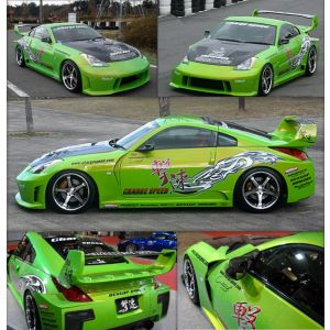 Chargespeed Widebody Kit Super GT Style Polyester Nissan 350Z-34665