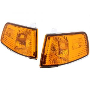 Sonar Kurven Chrom Gehäuse Oranges Glas Honda CRX Facelift-35098