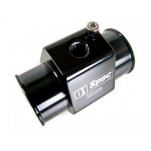 D1 Spec Wassertemperatursensor Adapter Schwarz Aluminium-35457