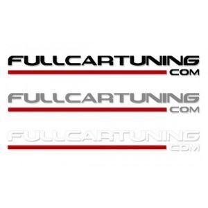 Fullcartuning Aufkleber mit rotem Streifen 100cm-37151