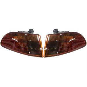 Sonar Kurven JDM Style Chrom Gehäuse Getönt_oranges Glas Honda Civic-38083