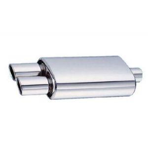 SK-Import Hinten Universal Muffler SL-DD 63.5mm Edelstahl-42481