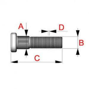 QSP Gewindebolzen Stahl M12x1.25-53705