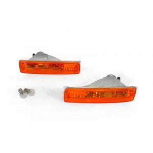 DEPO Blinker JDM Style Chrom Gehäuse Oranges Glas Honda CRX Facelift-56235