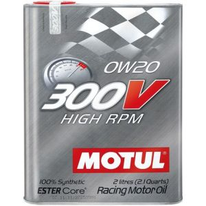Motul Motoröl 300V High RPM 2 Liter 0W-20 100 Synthetisch-58896