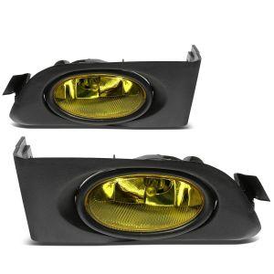 SK-Import Gelb Chrom Gehäuse Gelbes Glas Honda Civic Pre Facelift-60124