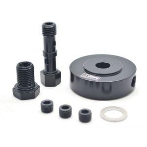 D1 Spec Adapterring Schwarz Öldruck und Temperatur Sensor Stahl Volkswagen Golf-62657