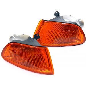 SK-Import Kurven JDM Style Chrom Gehäuse Oranges Glas Honda Civic-30018