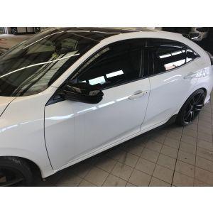 SK-Import Vorne und Hinten Side Window Visor Getönt Plastik Honda Civic-64431