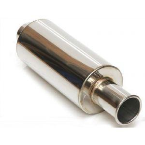 M2 Motorsport Universal Muffler Spoon Style Poliert 63.5mm Edelstahl-64668