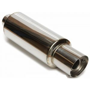 M2 Motorsport Universal Muffler Poliert 76mm Edelstahl-64672