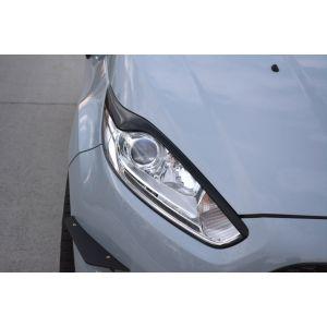 Maxton Vorne Scheinwerferabdeckungen V2 Schwarz ABS Plastik Ford Fiesta Facelift-76976