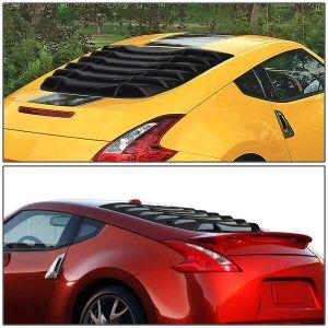 SK-Import Hinten Window Louvers Schwarz ABS Plastik Nissan 370Z-78799