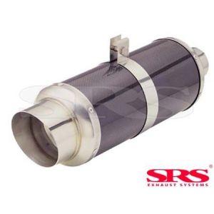 SRS Hinten Universal Muffler G55 Schwarz 61mm Carbon Fiber & Stainless Steel-50110