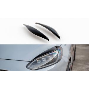 Maxton Vorne Scheinwerferabdeckungen Schwarz ABS Plastik Ford Fiesta-76986