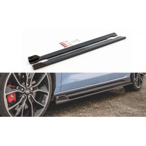 Maxton Seitenschweller V5 Schwarz ABS Plastik Hyundai I30-77077