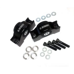 M2 Motorsport Vorne Motorhalter Eloxiert Schwarz Aluminium Honda Civic,CRX,Del Sol-77343