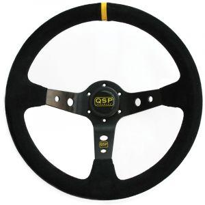QSP Lenkrad Racing Schwarz 350mm 90mm Wildleder-39926