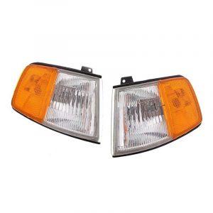DEPO Kurven USDM Style Chrom Gehäuse Oranges Glas Klares Glas Honda CRX Facelift-43502