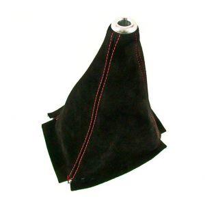 D1 Spec Schaltsack Red Stitching Schwarz Wildleder-46787