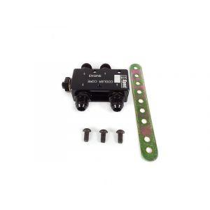 D1 Spec Öl Thermostat Adapter Schwarz Aluminium-61475