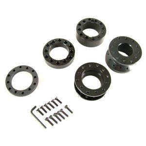 D1 Spec Nabenverlängerung Schwarz Aluminium-42956