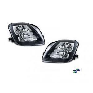 DEPO Scheinwerfer JDM Style Schwarzes Gehäuse Klares Glas Honda Prelude-36451