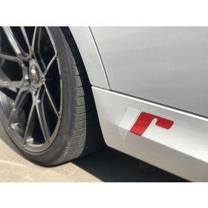 JR-Wheels Großer Sticker Full Color JR Wheels Rot - Weiss-55704-BIG
