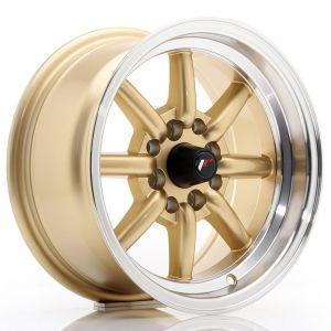 JR-Wheels JR19 Felgen 14 Zoll 7J ET0 4x100,4x114.3 Gold Machined Lip-66637
