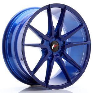 JR-Wheels JR21 Felgen 19 Zoll 8.5J ET20-43 Custom PCD Platinum Blau-76658