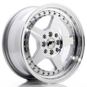 JR-Wheels JR6 Felgen 16 Zoll 7J ET35 4x100,4x114.3 Silber Machined-61096