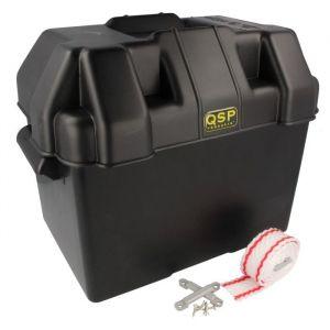 QSP Batteriebox Schwarz Polypropylen-80118