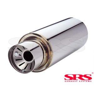 SRS Hinten Universal Muffler G55 61mm Edelstahl-50111