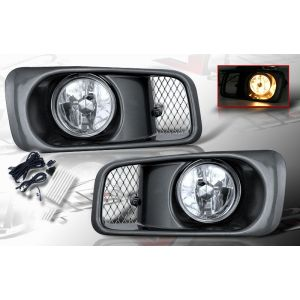 SK-Import Nebelscheinwerfer OEM Style Chrom Gehäuse Klares Glas Honda Civic Facelift-39468